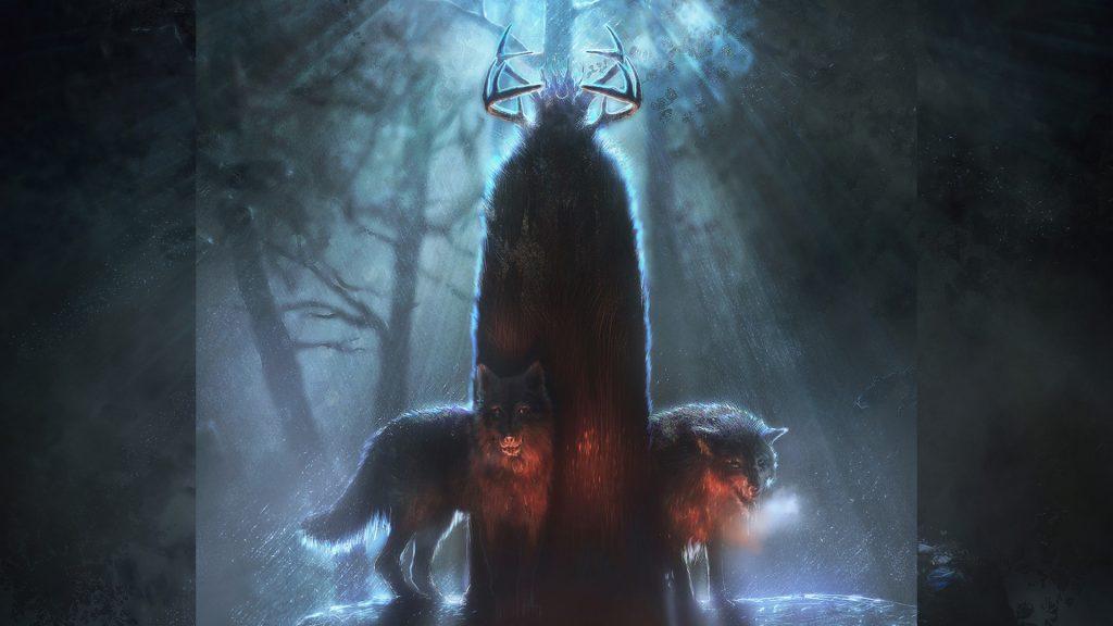 Два волка скандинавской мифологии - Гери и Фреки