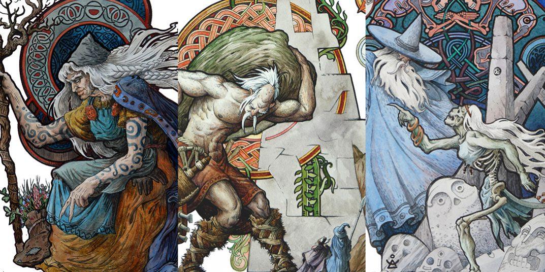 Арты на тематику викингов, богов, великанов и других существ Скандинавской мифологии.