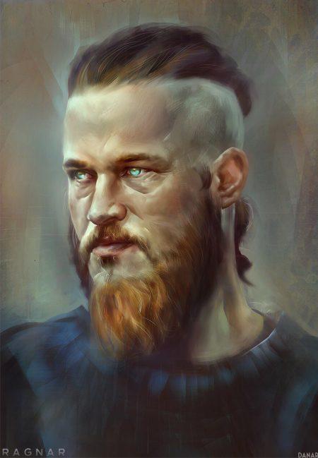 Рагнар лодброк с бородой рисунок и эскиз