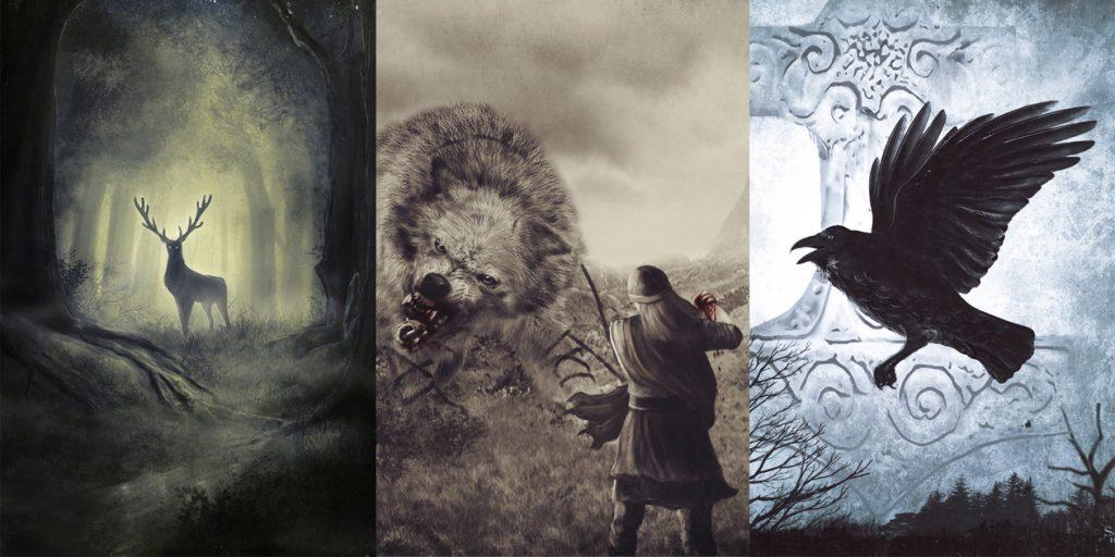 викинг арт рисунок эскиз север скандинавия темное фэнтези