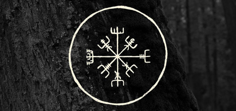 Вегвизир - рунический компас указатель пути, древнеисландские древнескандинавские символы, значение и смысл скандинавские татуировки, руны викингов, узоры на теле