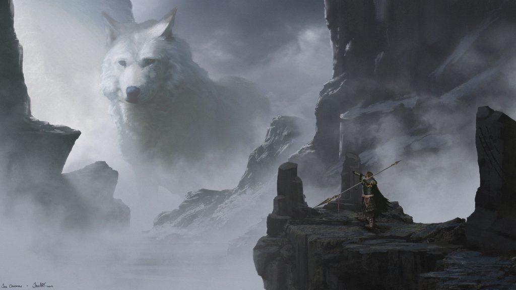 Белый волк скандинавской мифологии - Фенрир