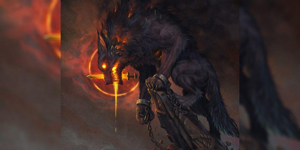 Скандинавская мифология волк Фенрир бог ужаса убийца одина