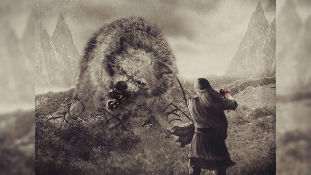 Пленение волка Фенрира цепями боги скандинавской мифологии