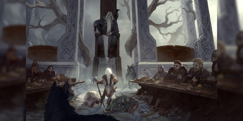 Один на троне посреди Вальгаллы