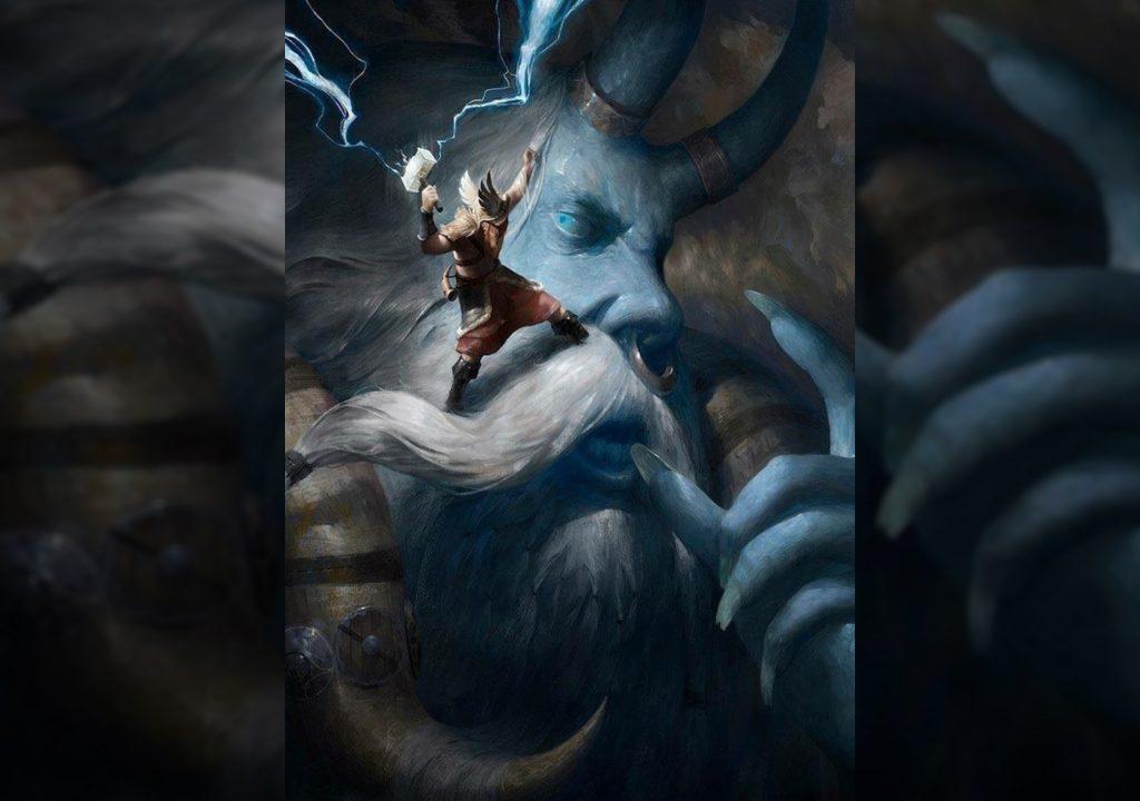 Тор убивает великана Хрунгнира