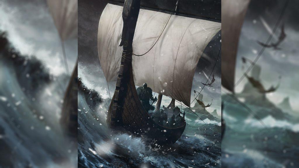 Корабль Нагльфар из ногтей мертвецов драккар рагнарёк скандинавская мифология