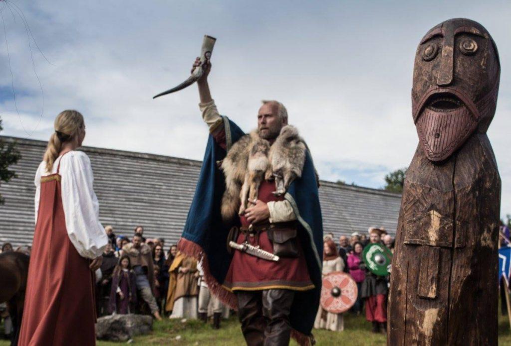 Фестиваль викингов в музее lofotr skol vikings horne