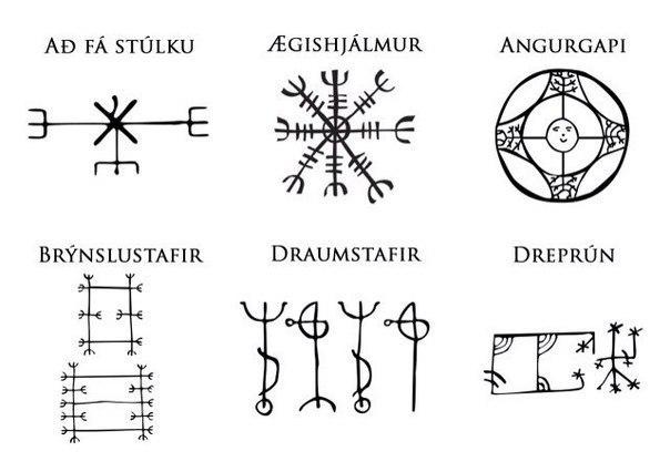 Скандинавские символы - Agishjalmur