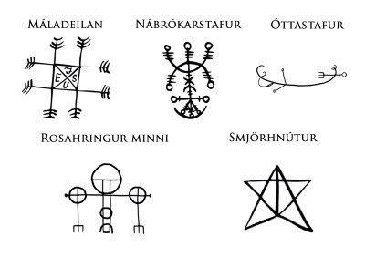 Скандинавские символы Maladeilan Nabrokarstafur