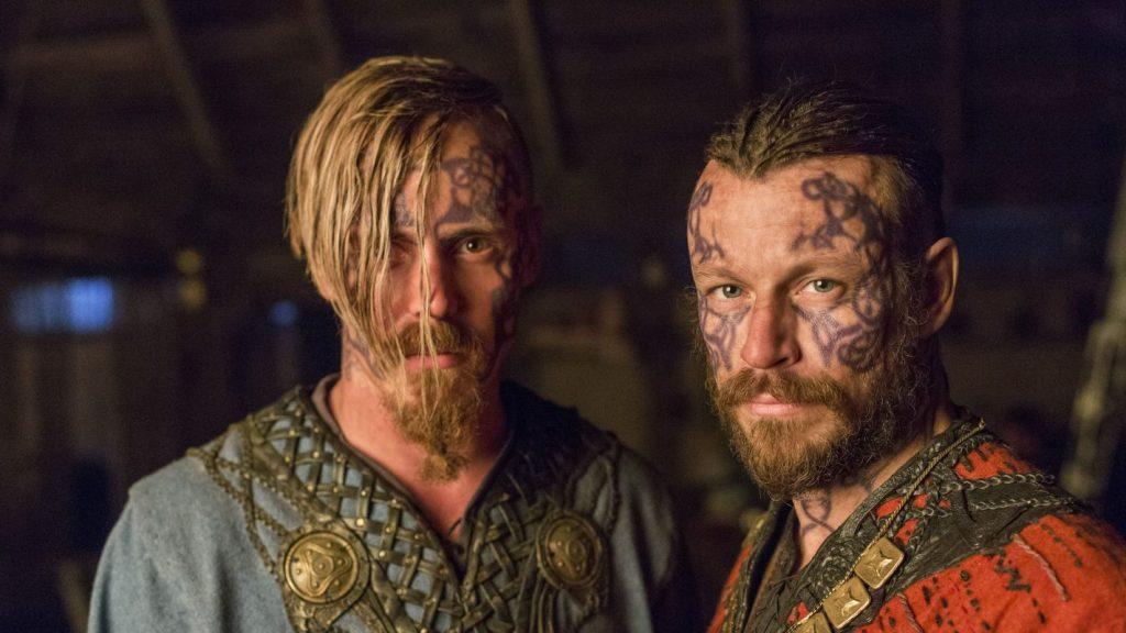 Татуировки викингов на лице - Харальд Прекрасноволосый и Хальфдан