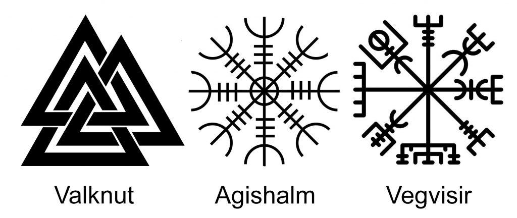 Валькнут Агисхьяльм Вегвизир - символы