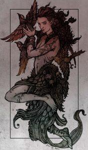 Рыжеволосый Локи и Вороны