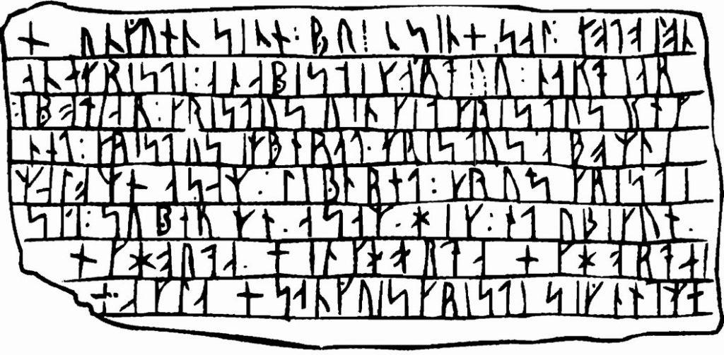 Рунические надписи рунами на языке викингов на камне рисунок