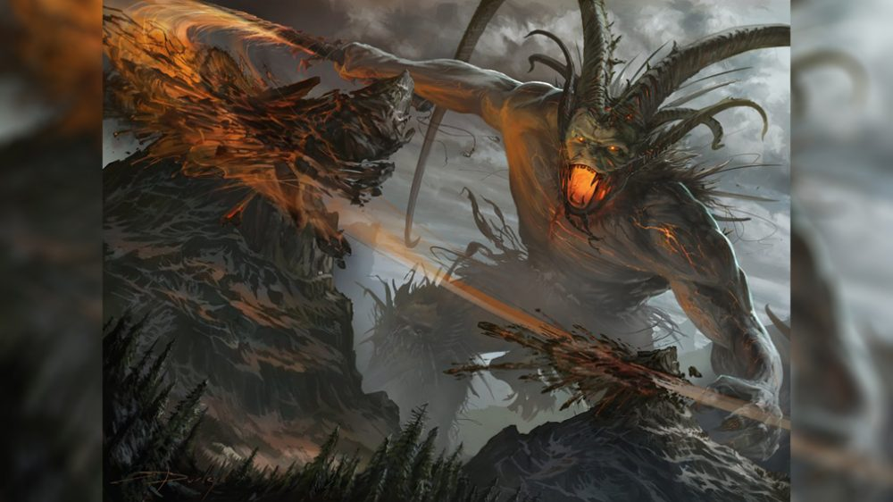 Суртур разрушает мир своим мечом